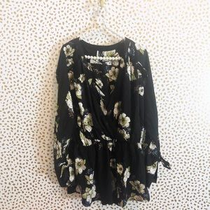 New Free People Tuscan Dreams Floral Tunic Top
